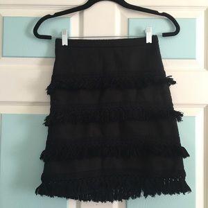 Black skirt with tassels